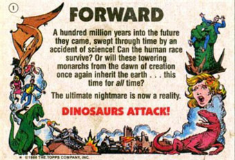 dinosaur attack b01 Every Dinosaur Attack Card