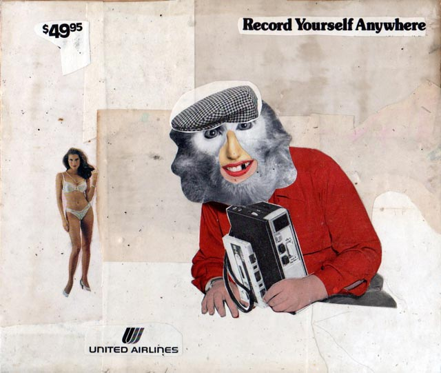 bast collage record yourself anywhere Bast's Print, Collage and Gallery Art