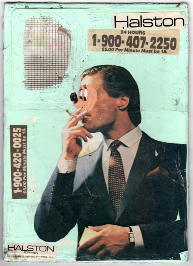 bast collage smoking man Bast's Print, Collage and Gallery Art