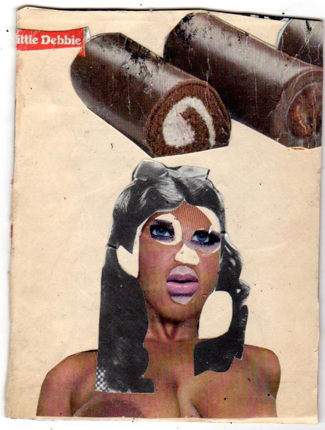bast collage snack cakes Bast's Print, Collage and Gallery Art