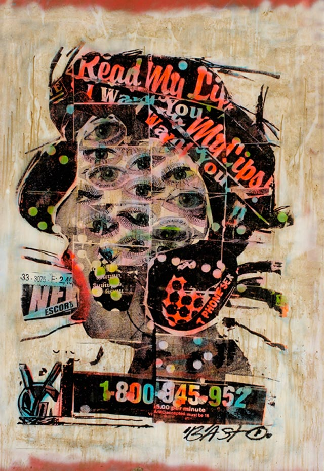 bast read my lips Bast's Print, Collage and Gallery Art