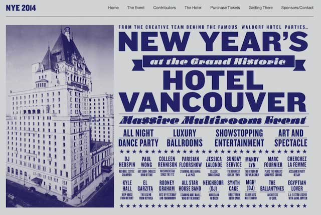 New Years at Hotel Vancouver New Years at the Hotel Vancouver