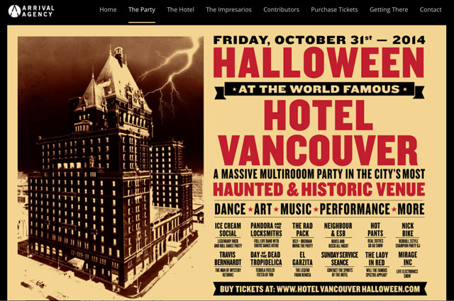 hallowneen at the hotel vancouver Halloween at the Hotel Vancouver