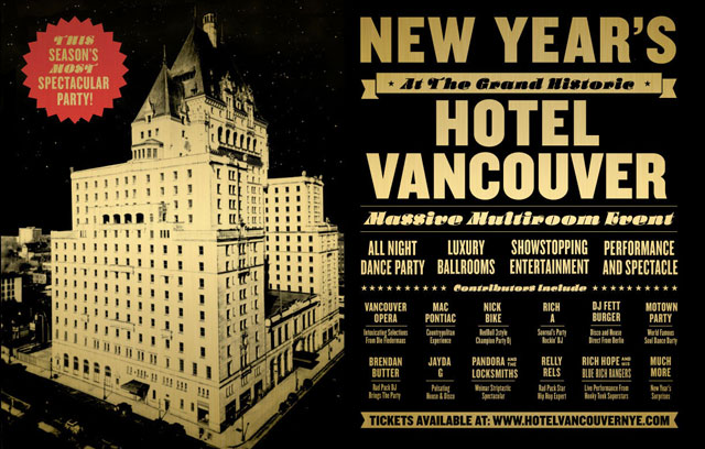 NYE Hotel Vancouver NYE at the Hotel Vancouver