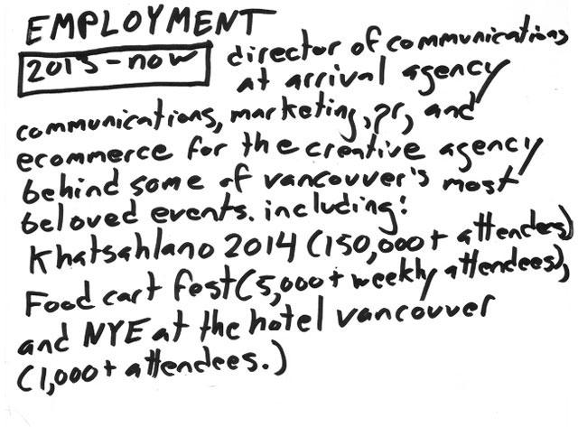 employment31 résumé