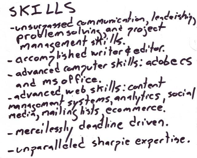 skills résumé